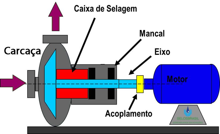 Figura 01: Representação de uma bomba centrifuga