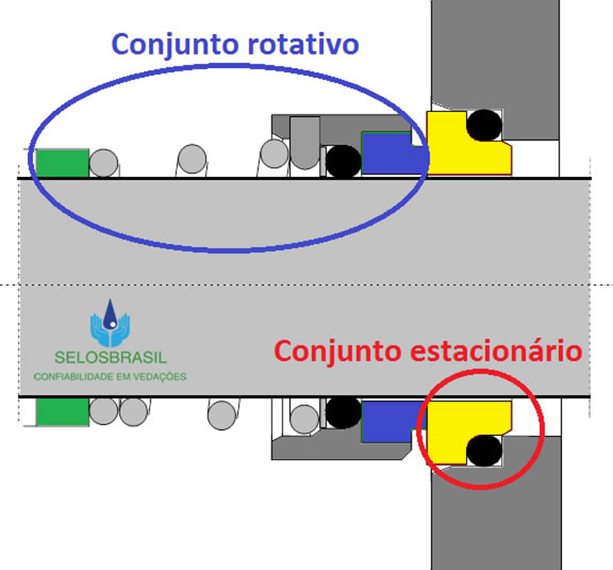 Figura 02: Representação de um selo mecânico
